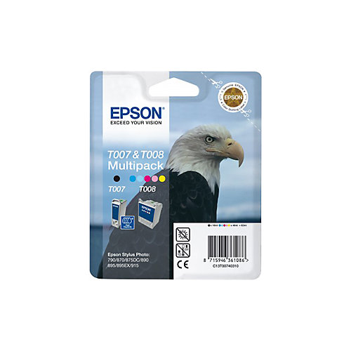Epson T007/T008 - Inktcartridge / Zwart / Kleur