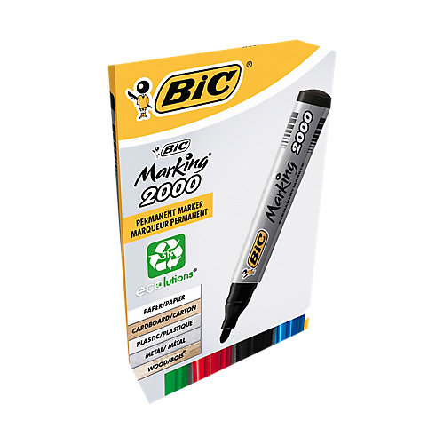 BIC Marking 2000 Permanente marker Ronde punt 1 7 mm Kleurenassortiment 4 Stuks