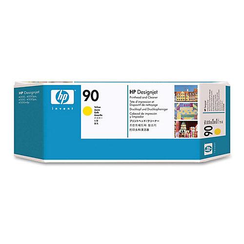 HP 90 - Inktcartridge / Geel + Cleaner