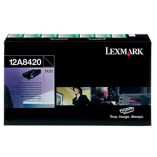 Lexmark Toner 12A8420 prebate zwart