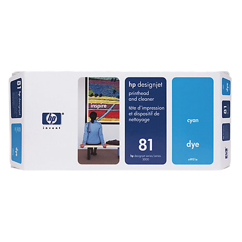 HP 81 - Inktcartridge / Cyaan + Cleaner