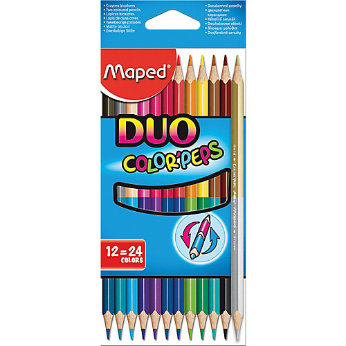 Color'Peps kleurpotlood Duo - in kartonnen doos x 12