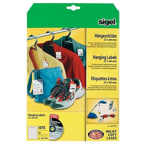 Sigel Labels 27x40 mm 1.470 Stuks