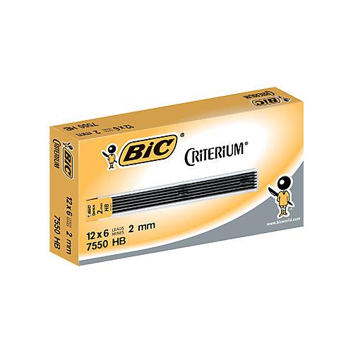 BIC Matic Vulpotlood met gum HB-Medium 6 Stuks