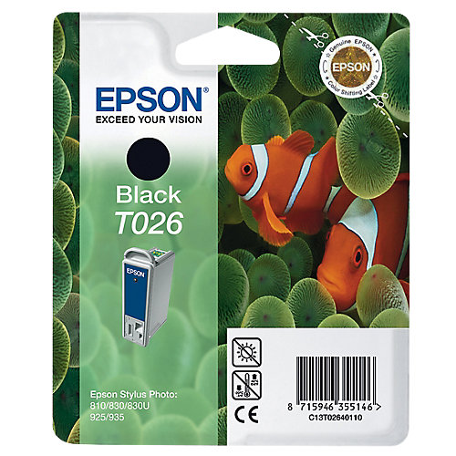 Epson T026 - Inktcartridge / Zwart