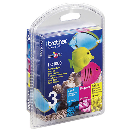 Brother LC-1000 - Inktcartridges / Cyaan / Magenta / Geel