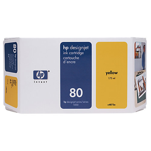 HP 80 - Inktcartridge / Geel