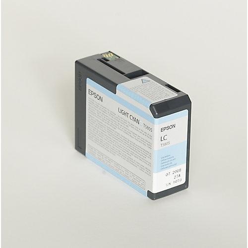 Epson T580500 Light Cyan Ink Cartridge (licht blauw)