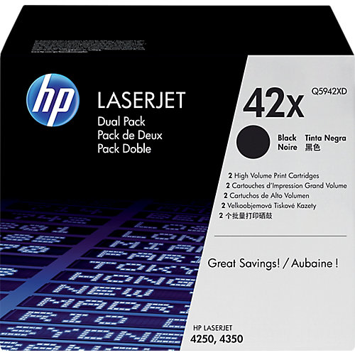 HP 42X - Inktcartridge / Zwart / 2 Pack