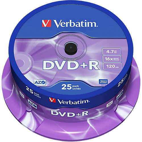 Verbatim DVD+R Single Layer 25 stuks