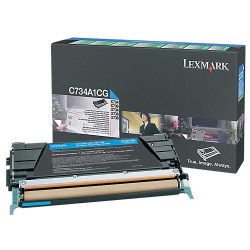 Lexmark 0C734A1CG - Tonercartridge Cyaan
