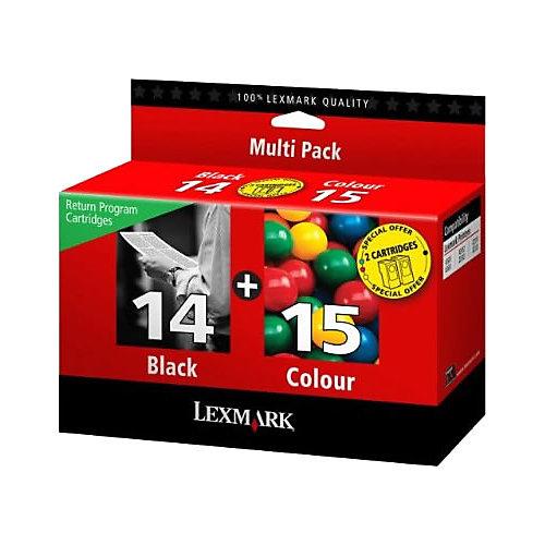Lexmark Inktpatronenset »0080D2979« Nr. 14 & Nr. 15