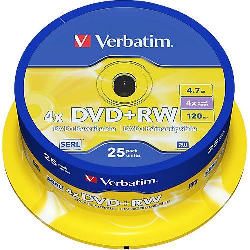 DVD+RW Spindel Mat Zilver 25 stuks