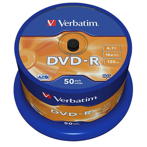 DVD-R AZO Spindel Mat Zilver 50 suks