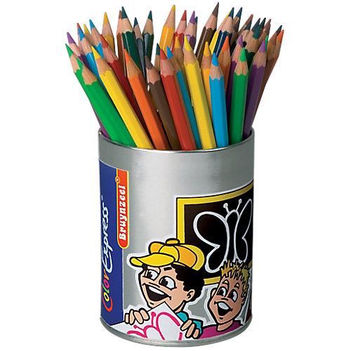 Bruynzeel Color Express® 3-kantige kleurpotloden in koker 3.3 mm Kleurenassortiment 48 Stuks