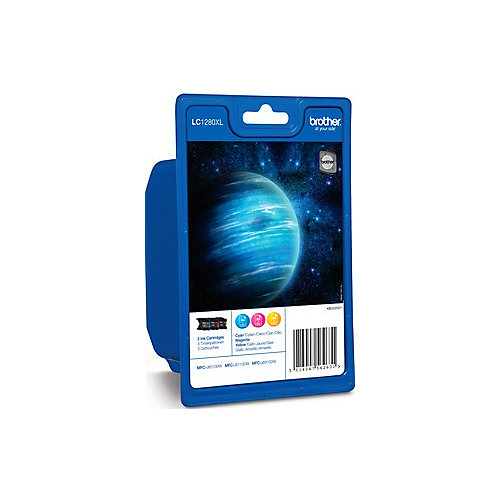 Brother LC-1280XLRBWBP - Inktcartridge / 3 Kleuren