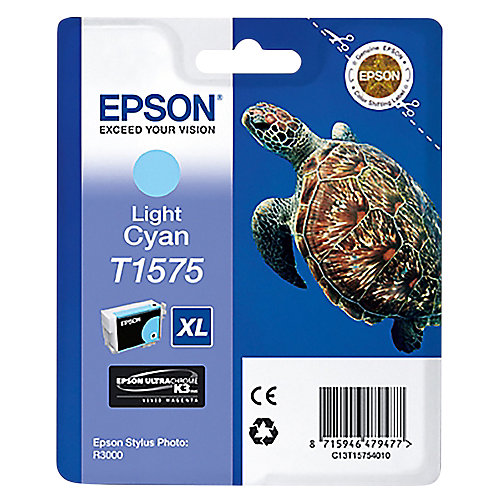 Epson T1575 Light Cyan Ink Cartridge (licht blauw)