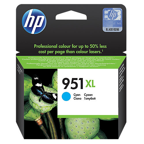 HP 951XL Inkcartridge CN046A Cyaan