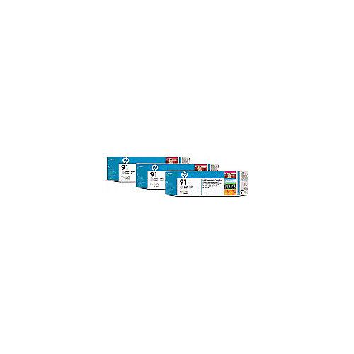 HP 91 - Inktcartridge / Licht Grijs / 3 Pack