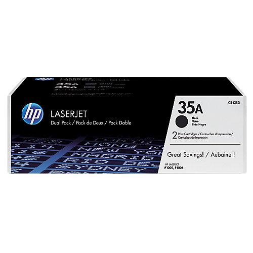 HP Dubbelpak tonercassette »HP CB435AD«