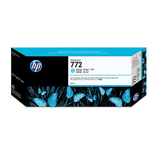 HP 772 - Inktcartridge / Licht Cyaan