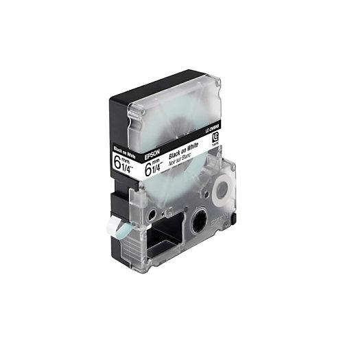 Epson standaardtape breedte 6 mm  zwart/wit