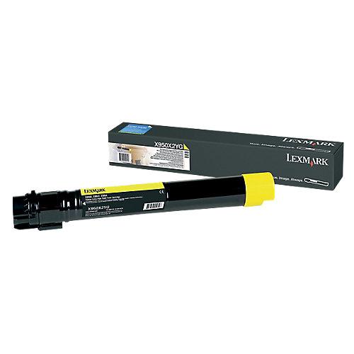 Lexmark X950X2YG - Tonercartridge Geel - Hoge capaciteit