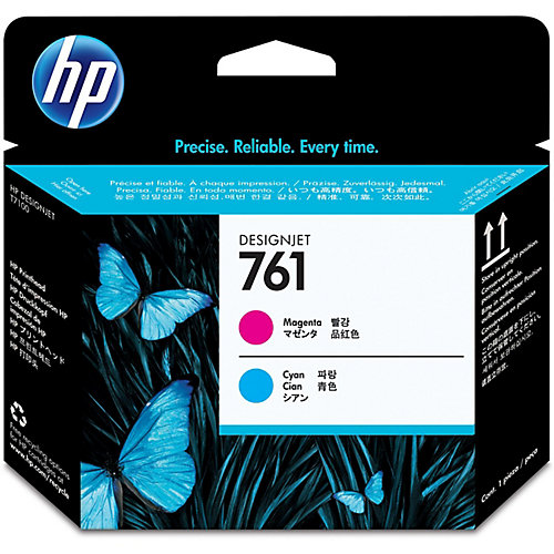 HP 761 - Inktcartridge / Magenta / Cyaan