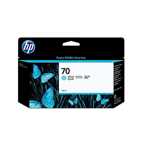 HP 70 - Inktcartridge / Licht Cyaan