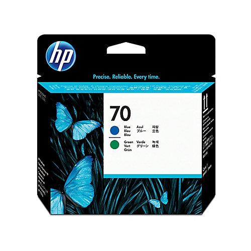 HP 70 - Inktcartridge / Blauw / Groen