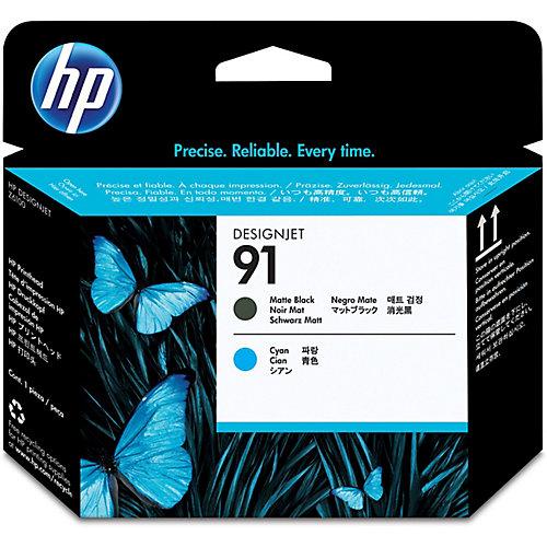 HP 91 - Inktcartridge / Zwart / Cyaan