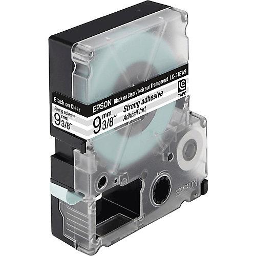 Epson sterk hechtende tape breedte 9 mm  zwart/transparant