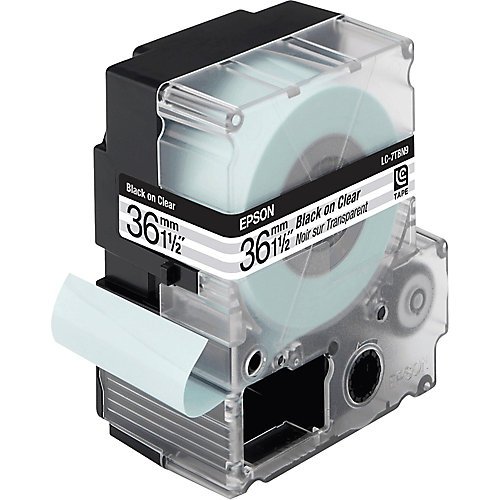 Epson transparante tape breedte 36 mm  zwart/transparant
