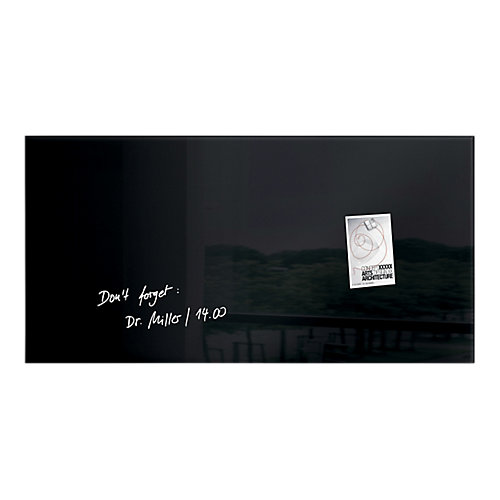 Sigel Magnetisch glassboard Artverum® Zwart 910x460 mm