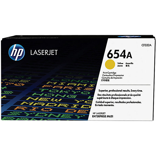 HP 654A - Tonercartridge / Geel
