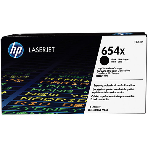 HP 654X - Tonercartridge / Zwart / Hoge Capaciteit