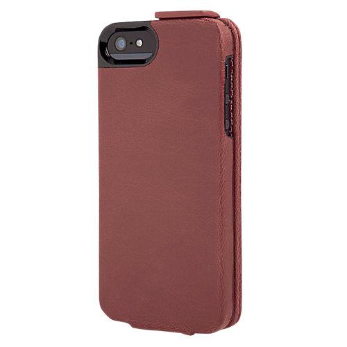 Portfolio Flip Wallet Maroon Marble iPhone 5 Donkerrood