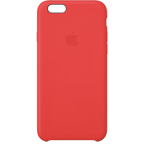 iPhone 6 Leather Case Rood