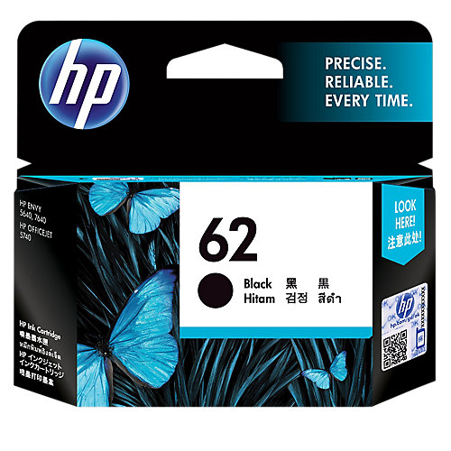 HP 62 BLACK Inkt Cartridges