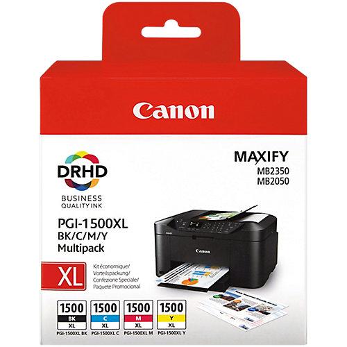 Canon Inktcartridge PGI1500XL C/M/Y/BK Zwart  cyaan magenta geel