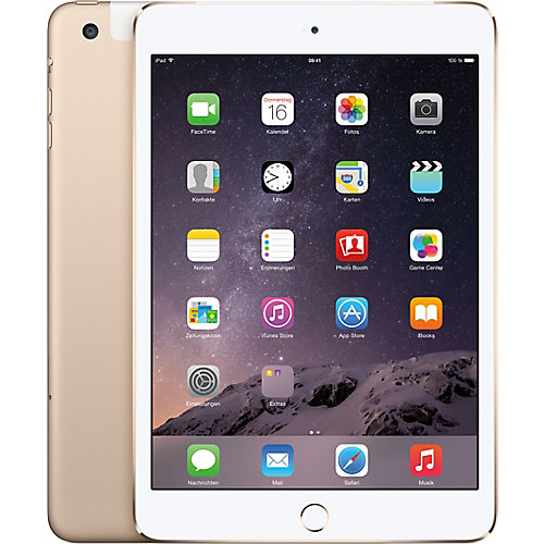 Apple iPad Mini 3 Wifi + 4G 64 GB Goud