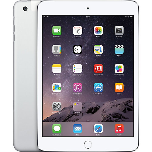 Apple iPad Mini 3 Wifi + 4G 128 GB Zilver