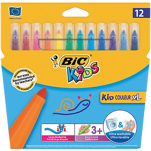 BIC Kids 12 dikke uitwasbare stiften