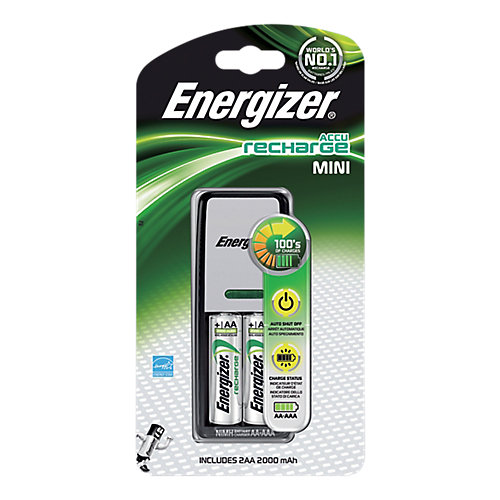 Lader Energizer Mini Charger + 2x AA Mignon 2000mAh