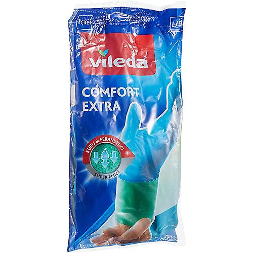 Vileda Handschoenen Comfort & Care L   Blauw