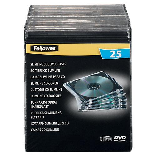 Fellowes CD/DVD Slimcase - 25 Stuks