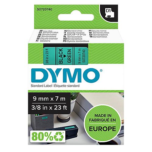 DYMO® Labels Zwart op Groen 9 mm x 7 m