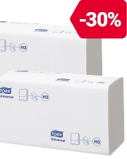 Vanaf €25,99 Verpakking van 5000 Tork handdoeken met natuurlijke zigzag