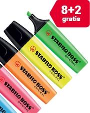 8 + 2 Gratis Stabilo Boss 2 markeerstiften - 5 mm geel