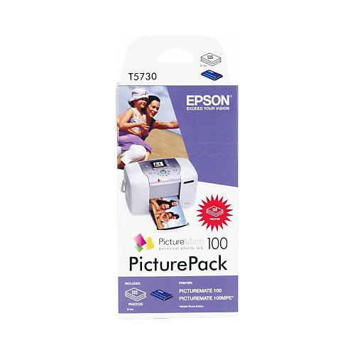 Epson T5730 Inktcartridge en Fotopapier - Cyaan / Magenta / Geel / Zwart